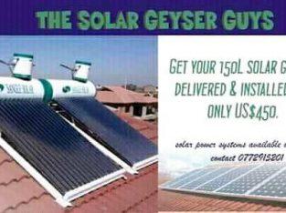 Solar Geysers & Solar Power Systems for sale