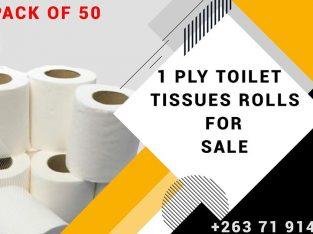 1 Ply Virgin Tissues Rolls