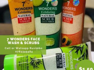7 Wonders face scrubs