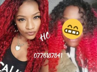 Red curly wigs