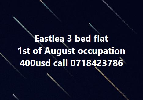 Eastlea 3 bed flat