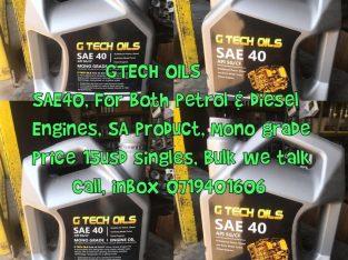 Gtech Oils For Sale