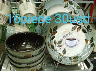 Plates cups bowls